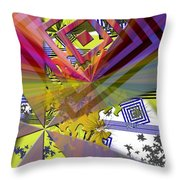 Geometric Rays Happiness Throw Pillow