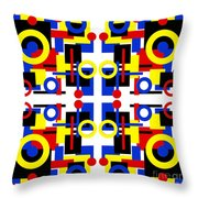 Geometric Shapes Abstract Square 2 Throw Pillow
