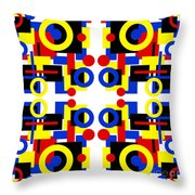 Geometric Shapes Abstract Square 3 Throw Pillow