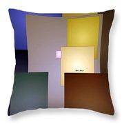 Geometric Squares Throw Pillow