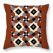 Geometric Textile Design Throw Pillow
