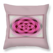 Geometrical Colors And Shapes 4 - Hearts Throw Pillow