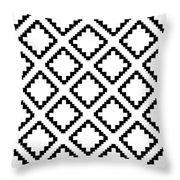 Geometricsquaresdiamondpattern Throw Pillow