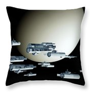 Geometry Spaceships Throw Pillow