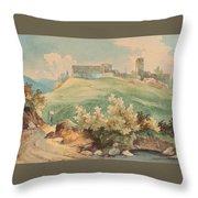 Georg Geyer 1823   Wien   1912   Burg Brandzoll In Tirol Throw Pillow
