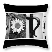 George Alphabet Art Throw Pillow