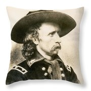George Armstrong Custer  Throw Pillow
