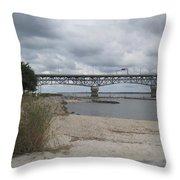 George Coleman Bridge Yorktown, Virginia Throw Pillow