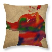 George Constanza Of Seinfeld Watercolor Portrait Throw Pillow