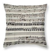 George Frederick Handel Throw Pillow