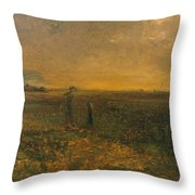 George Fuller   Twilight On The Prairie Throw Pillow