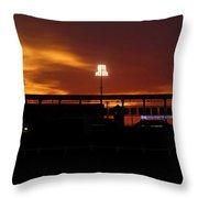 George M Steinbrenner Field Throw Pillow by David Lee Thompson