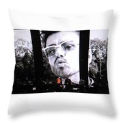 George Michael Sends A Kiss Throw Pillow