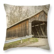 George Miller Covered Bridge  Throw Pillow