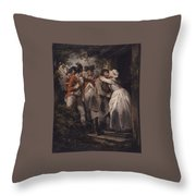 George Morland   The Deserters Farewell Throw Pillow