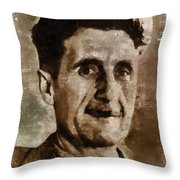George Orwell Author Throw Pillow