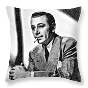 George Raft, Vintage Actor By Js Throw Pillow
