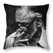 George Romero Throw Pillow