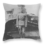 George S. Patton During World War One  Throw Pillow
