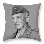 George S. Patton Throw Pillow
