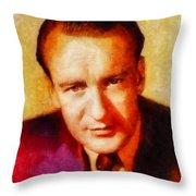 George Sanders, Vintage Hollywood Actor Throw Pillow