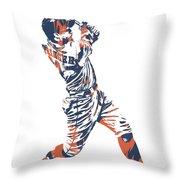 George Springer Houston Astros Pixel Art 11 Throw Pillow