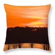 George T. Bagby State Park Sunset Throw Pillow