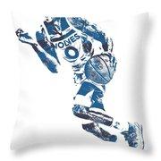 George Teague Minnesota Timberwolves Pixel Art 1 Throw Pillow