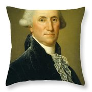 George Washington, 1795 Throw Pillow