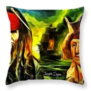 George Washington And Abraham Lincoln The Pirates Throw Pillow