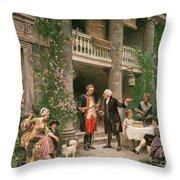 George Washington At Bartrams Garden Throw Pillow