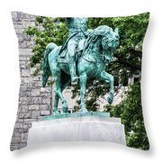 George Washington At West Point Military Academy Throw Pillow