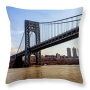 George Washington Bridge Throw Pillow