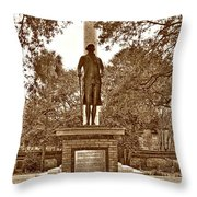 George Washington, Charleston,sc Throw Pillow