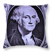 George Washington In Light Purple Throw Pillow