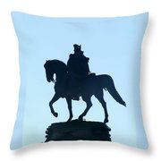 George Washington Monument Philadelphia Throw Pillow