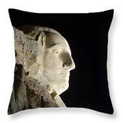 George Washington Profile At Night Throw Pillow