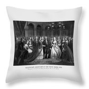 George Washington's Reception At White House - 1776  Throw Pillow