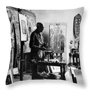 Georges Braque (1882-1963) Throw Pillow