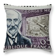 Georges Melies (1861-1938) Throw Pillow