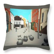 George's Street, Waterford Throw Pillow