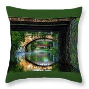 Georgetown Canal Bridges Throw Pillow