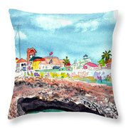 Georgetown Cayman Islands Throw Pillow