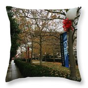 Georgetown Law Holiday Throw Pillow