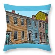 Georgetown Row Throw Pillow