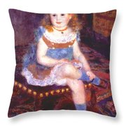 Georgette Charpentier Seated 1876 Throw Pillow