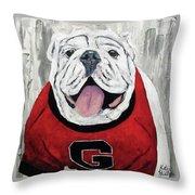 Georgia Bulldog Throw Pillow