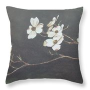 Georgia Dogwood Throw Pillow