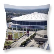 Georgia Dome In Atlanta Throw Pillow