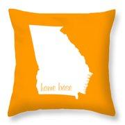 Georgia Is Home Base White Throw Pillow